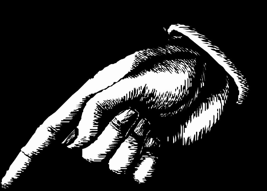 Hand Hinweis